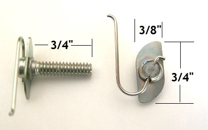 "D347 - 15pcs.  / Small ""T""Bolt  /Wire in Center"