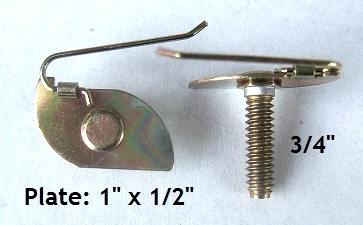 A19626 - 12pcs. / Small T-Bolt / Wire on plate