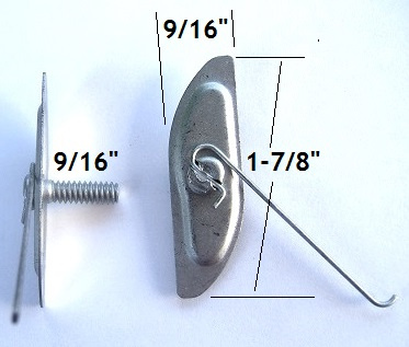 "D344 - 15pcs. / Larger ""T""Bolt  /Wire in Center"